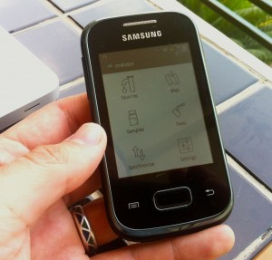 The mWater App running on an inexpensive Android mobile phone.http://mwater.co/android-app/